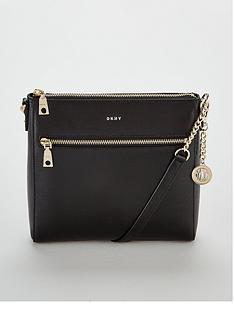 7346ad5c7c DKNY Bryant Sutton Leather Crossbody Bag - Black