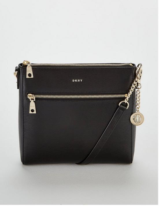 17485aef236b DKNY Bryant Sutton Leather Crossbody Bag - Black | very.co.uk