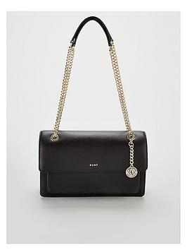 dkny-bryant-chain-sutton-leather-flap-large-crossbody-bag-blackgoldnbsp