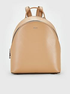 dkny-bryant-sutton-leather-medium-backpack-latte