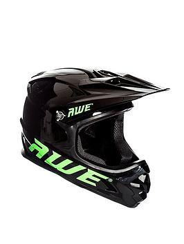 AWE® AWEBlast™ FREE 5 YEAR CRASH REPLACEMENT* BMX/Downhill/Full Face/Enduro Helmet Black Medium 56-58cm Best Price and Cheapest