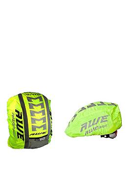 Awe Awe High Visibillity 3M Scotchlite Reflective Helmet & Rucksack Cover Set