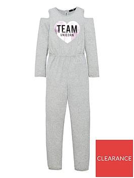 v-by-very-girls-cold-shoulder-unicorn-slogan-jumpsuit-grey