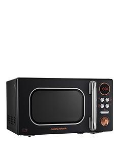 morphy-richards-800w-20-litre-microwave-black-gold