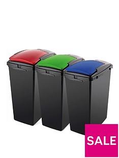 addis-set-of-three-40-litre-recycling-utility-bins