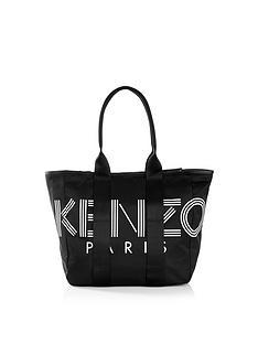 kenzo-nylon-logo-tote-bag-black