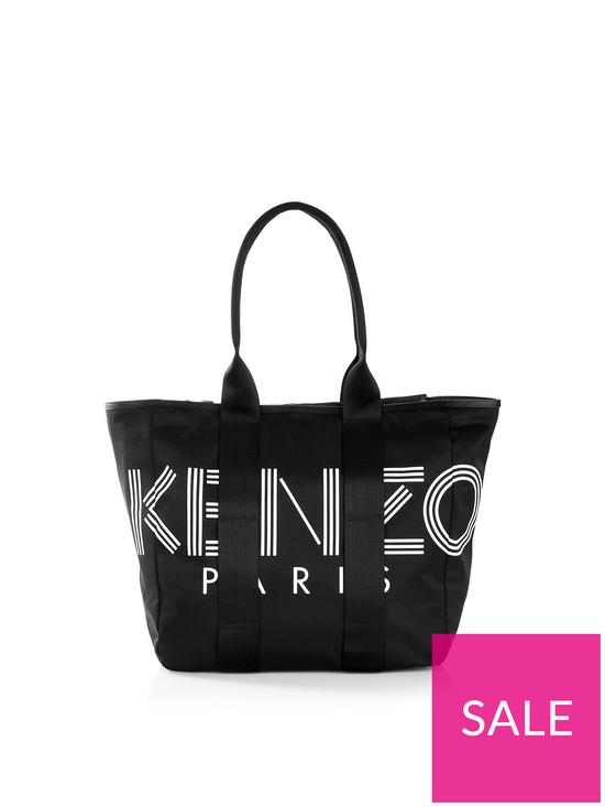 a0b4baca13 Kenzo Nylon Logo Tote Bag - Black | very.co.uk