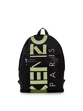 kenzo-nylon-logo-print-backpack-black