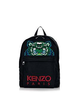 kenzo-embroidered-tiger-canvas-backpack-black