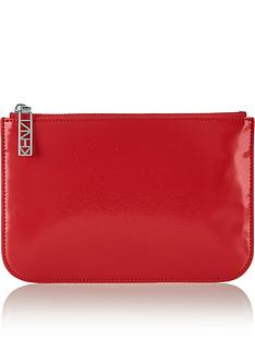 kenzo-embossed-tiger-pouch-red
