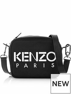 kenzo-logo-canvas-camera-bag-black