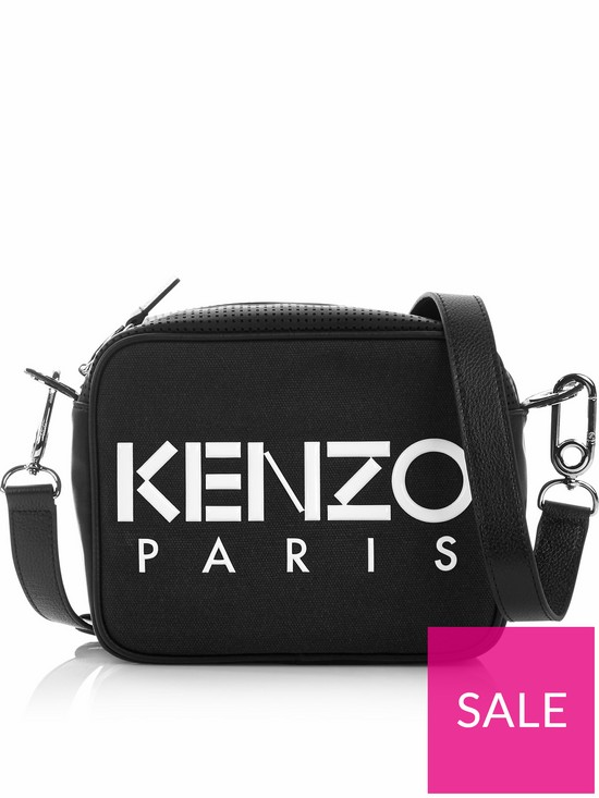 e083a1058d Kenzo Logo Canvas Camera Bag - Black | very.co.uk