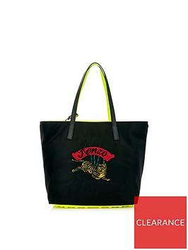 kenzo-jumping-tiger-tote-bag-black