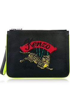 kenzo-jumping-tiger-pouch-black