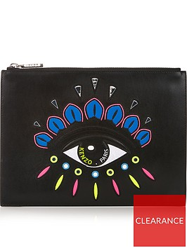 kenzo-embellished-eye-pouch-black