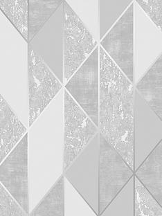 superfresco-milan-geo-silver-wallpaper