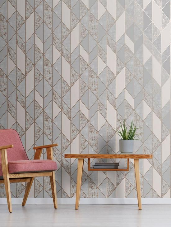 Superfresco Milan Geo Wallpaper – Rose Gold