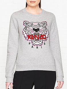 kenzo-tiger-classic-sweatshirt-grey-marl