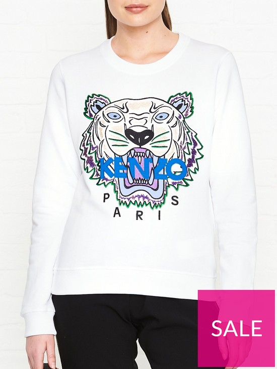 159efe1123 Kenzo Tiger Classic Sweatshirt - White | very.co.uk