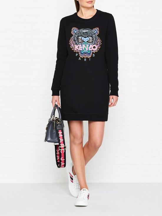 c1957339 Kenzo Classic Tiger Head Sweatshirt Dress - Black | very.co.uk