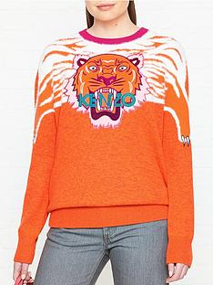 kenzo-claw-tiger-crew-neck-jumper-orange