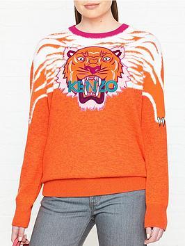 kenzo-claw-tiger-crew-neck-jumper-orange