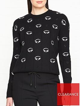 kenzo-multi-eye-embellished-jumper-black