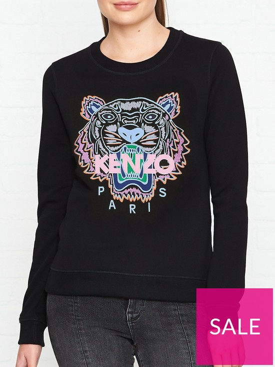 6d6693143e0 Kenzo Classic Tiger Head Sweatshirt - Black | very.co.uk