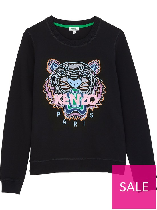 42dc5239bd Kenzo Classic Tiger Head Sweatshirt - Black   very.co.uk