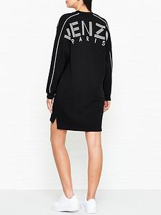 kenzo-logo-back-sweat-dress-black
