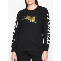 539d6115 Shoptagr | Jumping Tiger Sweatshirt Black by Kenzo