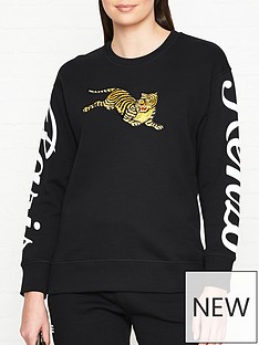 kenzo-jumping-tiger-sweatshirt-black