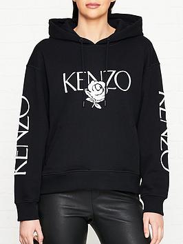 kenzo-bold-logonbsphoodie-black