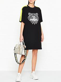 kenzo-crepe-tiger-logo-tee-dress-black