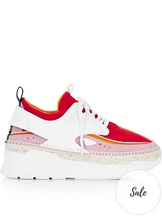 kenzo-k-lastic-espadrille-trainers-red