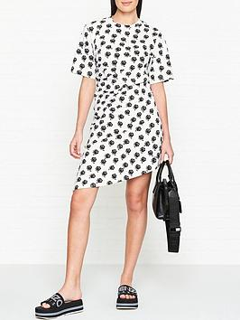 kenzo-rose-print-asymmetric-mini-t-shirtnbspdress-white
