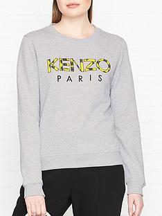 kenzo-neon-floral-logo-sweatshirtnbsp--grey-marl