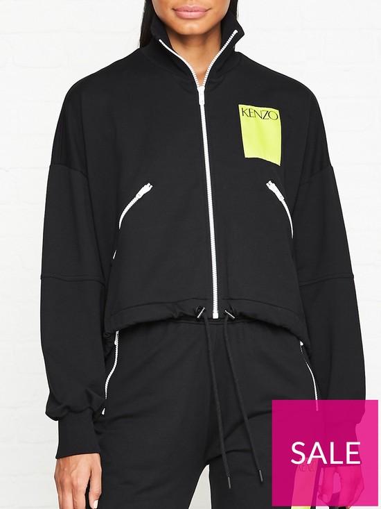7211441b15d4 Kenzo Zip Through Logo Track Jacket - Black | very.co.uk