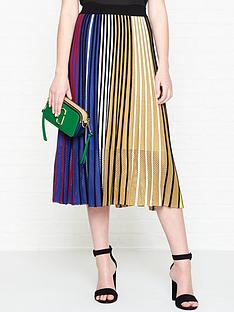 kenzo-rainbow-stripe-rib-knit-skirt-multi