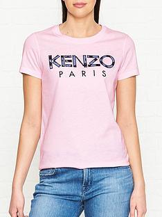 kenzo-floral-logo-t-shirtnbsp--pink