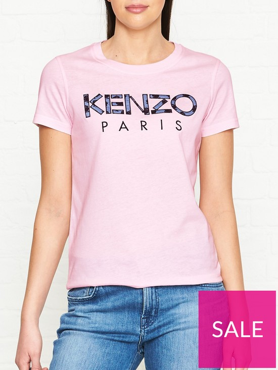 5fd2ed94 Kenzo Floral Logo T-shirt - Pink | very.co.uk