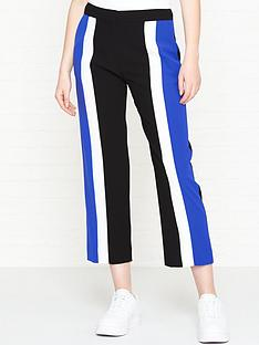 kenzo-colour-block-crepenbsppants-black