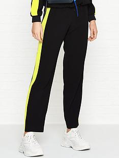 kenzo-crepe-side-panel-track-pants-black