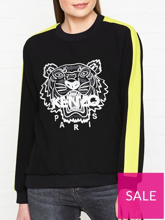 bf5195c406 Kenzo Soft Tiger Embroidered Sweatshirt - Black | very.co.uk