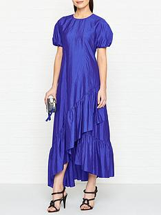 kenzo-frilled-maxi-dress-blue