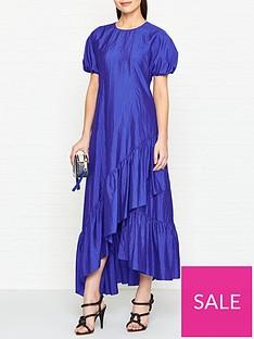 kenzo-frilled-maxi-dress-blue