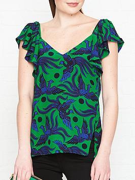 kenzo-frilled-flying-phoenix-ruffle-topnbsp--green