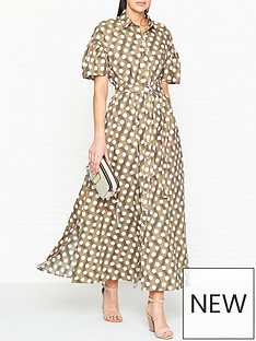 kenzo-spot-belted-cotton-maxi-dress-beige
