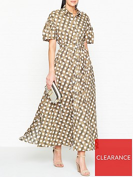 kenzo-spot-belted-cotton-maxi-dress-beige
