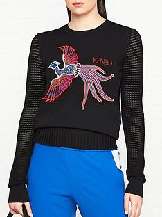 kenzo-phoenix-embroidered-crew-neck-jumper-black